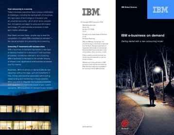 IBM e-business on demand