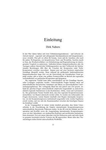 Einleitung - GIGA German Institute of Global and Area Studies