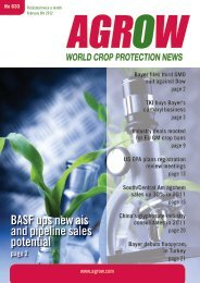 BASF ups new ais and pipeline sales potential - Agrow