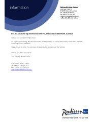 Banquet Kit brochure (PDF) - Radisson Blu