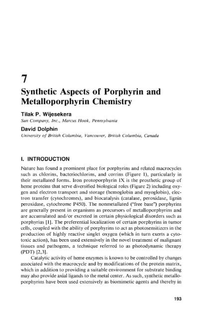 the porphyrins v4 dolphin david