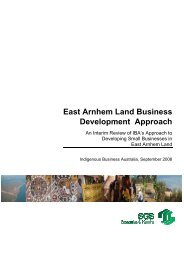 East Arnhem Land Business Development Approach - Indigenous ...