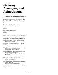 Glossary, Acronyms, and Abbreviations - IIUSA