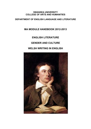 MA English Literature, Gender and Welsh Writing in - Swansea ...