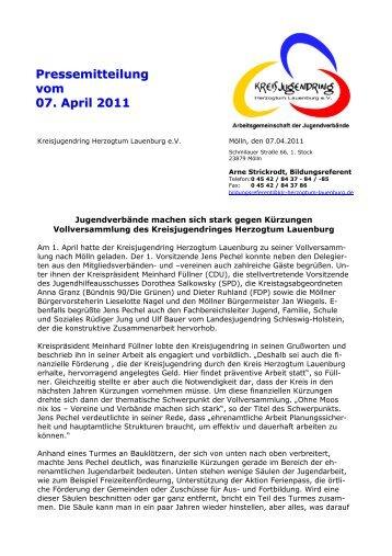 PM 07042011 Vollversammlung 2011 - Kreisjugendring Herzogtum ...