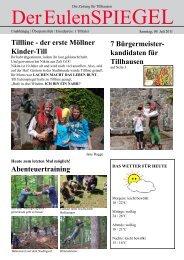 GEl Die Zeitung Für Tillhausen Der Eulen SpiE - Kreisjugendring ...
