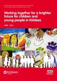 Children & Young People - Kirklees Psychological wellbeing and