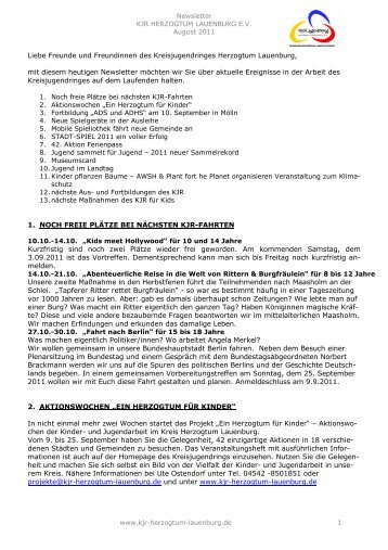 Newsletter 11-04 - Kreisjugendring Herzogtum Lauenburg