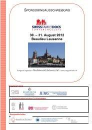 30. – 31. August 2012 Beaulieu Lausanne - congress-info.ch | Home