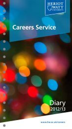 Download the 2012-13 Careers Service Diary - Heriot-Watt University