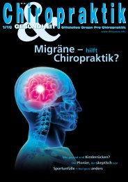Migräne – hilft Chiropraktik? - ChiroSuisse