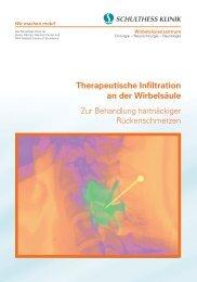 Therapeutische Infiltration an der Wirbelsäule - Schulthess Klinik
