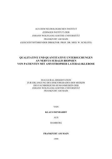 qualitative und quantitative untersuchungen an nervus suralis ...