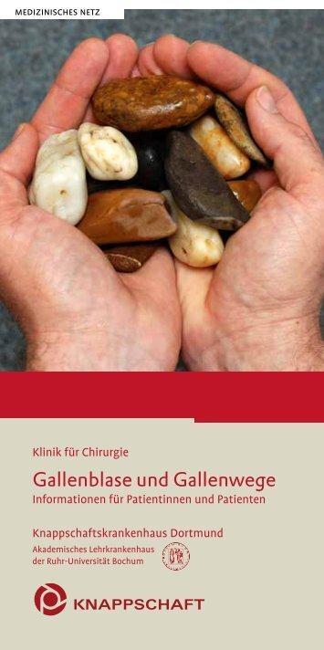 Gallenblase und Gallenwege - Knappschaftskrankenhaus Dortmund