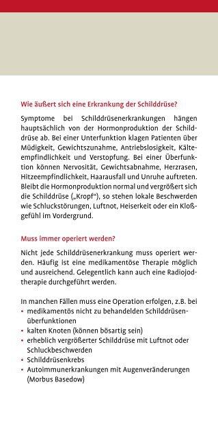 Schilddrüse - Knappschaftskrankenhaus Dortmund