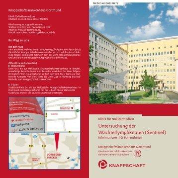Untersuchung der Wächterlymphknoten - Knappschaftskrankenhaus ...