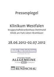 Pressespiegel - Knappschaftskrankenhaus Dortmund