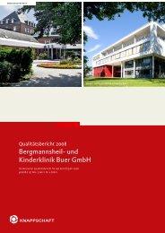 Qualitätsbericht 2008 - Bergmannsheil Buer