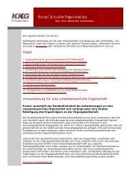 Inhalt Voraussetzung für eine umsatzsteuerliche Organschaft - KKG ...