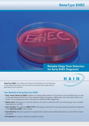 GenoType EHEC - Hain Lifescience GmbH