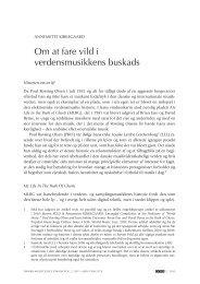 Om at fare vild i verdensmusikkens buskads - danish musicology ...