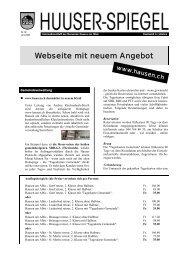 Juni - August 2008 [PDF, 359 KB] - Gemeinde Hausen am Albis