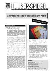 August 2010 [PDF, 643 KB] - Gemeinde Hausen am Albis