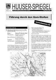 Führung durch den Gom-Stollen - Gemeinde Hausen am Albis