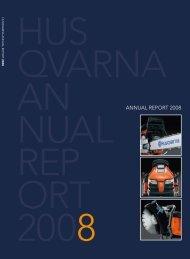 Annual Report 2008 (PDF 6.10 MB) - Husqvarna Group