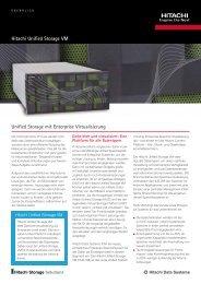 Hitachi Unified Storage VM Unified Storage mit Enterprise ...