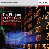 Hitachi Unified Storage (HUS) Platform - Hitachi Data Systems