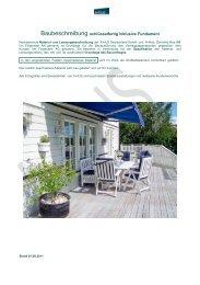 Baubeschreibung schlüsselfertig inklusive Fundament - A-hus