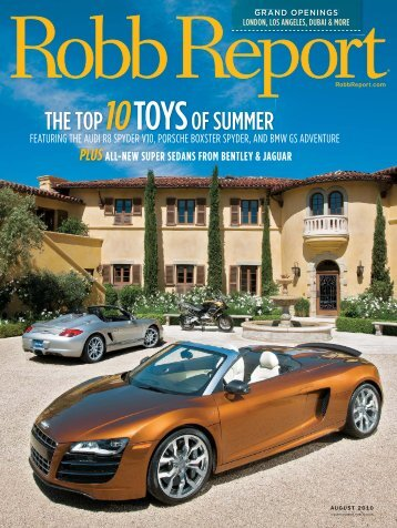 robb report article with husic vineyards - Barbour Vineyards