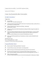 Forum: Das Potential flexibler Teilzeitarbeit