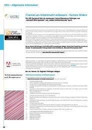 EDV – Allgemeine Information Chancen am ... - VHS Dortmund