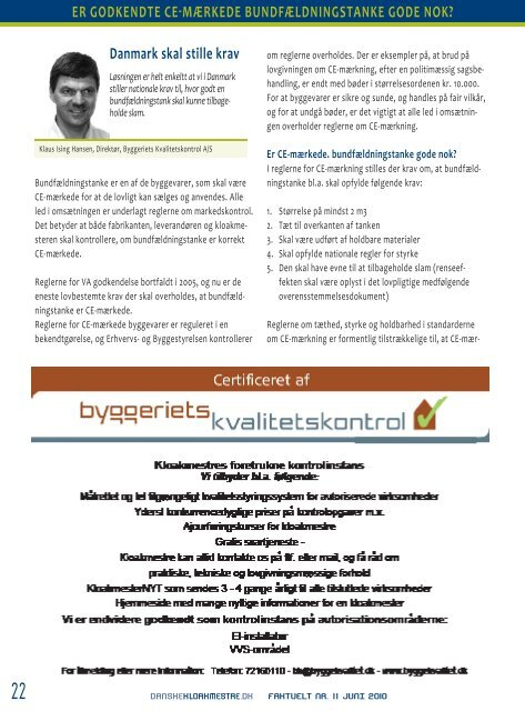 Faktuelt juni 2010 - Danske Kloakmestre