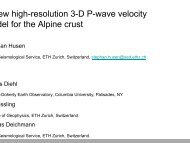 new high-resolution 3-D P-wave velocity odel for the Alpine ... - Orfeus