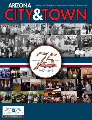 Summer 2012 - League of Arizona Cities and Towns