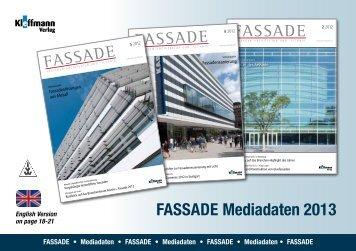 FASSADE Mediadaten 2013 - FH Kleffmann Verlag GmbH ...