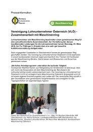 Vereinigung Lohnunternehmer Österreich (VLÖ) - Zusammenarbeit ...