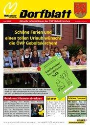 Ausgabe Juni 2012 - ÖVP Geboltskirchen