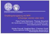 Empfängnisregelung mit NFP - NFP- Zentrum Leipzig