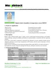 Digital relative humidity & temperature sensor RHT03