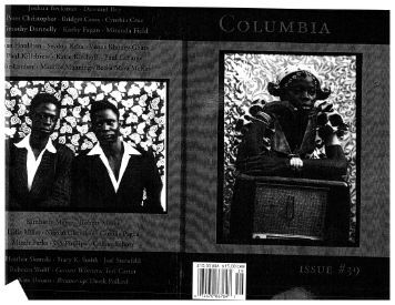 10.00 USA $15.00 CAN o 74470 86764 - Columbia: A Journal of ...