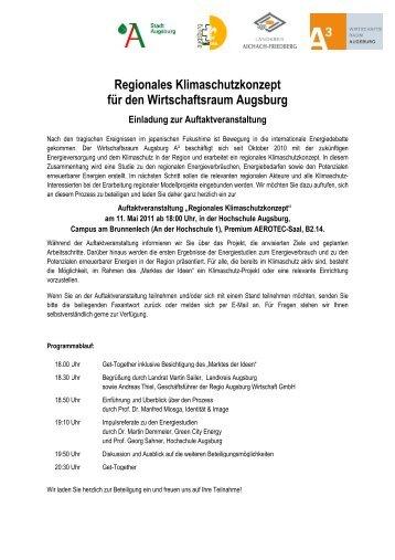 Weitere Informationen und Anmeldung - im Wirtschaftsraum Augsburg.