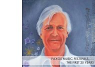 2011 Anniversary Brochure - Paxos Festival Trust