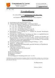 GR-Sitzung vom 15.03.2012 (83 KB) - .PDF - St. Lorenz