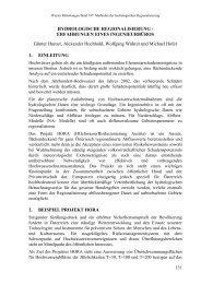 HYDROLOGISCHE REGIONALISIERUNG - Institut für Wasserbau ...