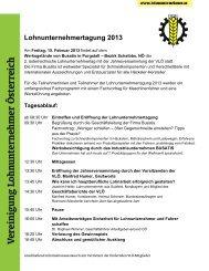 zur Einladung... - Lohnunternehmen in Österreich