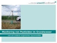 Pestizide im Grundwasser - Humer